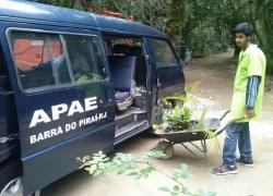 Alunos da Apae participam de oficina no Horto Florestal