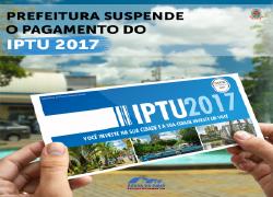 Prefeitura suspende pagamento do IPTU 2017